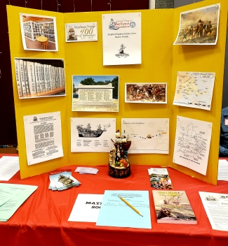 Indian River Genealogical Conference Stephen Hopkins Colony Mayflower Display
